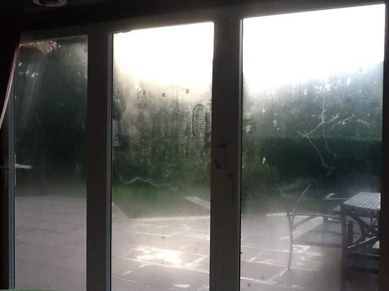 condensation on the outside of new windows