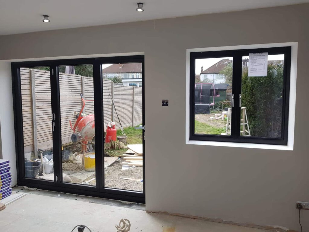 Schuco bifolding doors in Stoneleigh