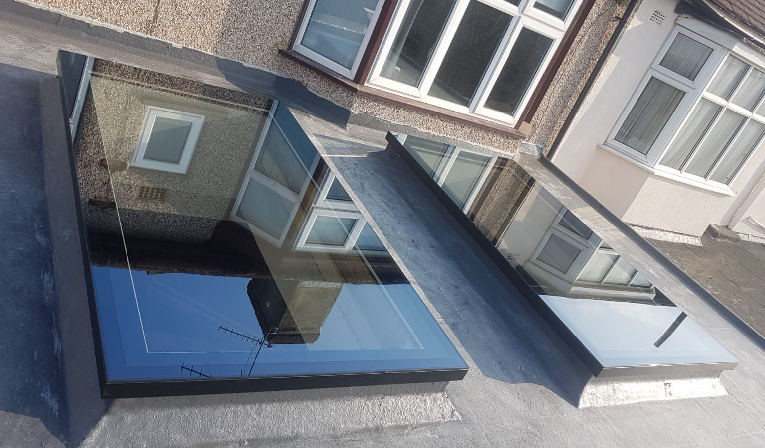 Titan Edge Flat Rooflights in new extension.