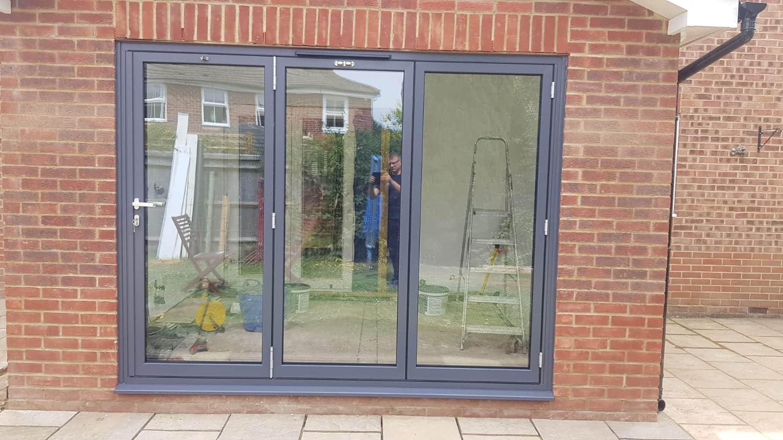 Schuco bifolding doors to a Crawley House