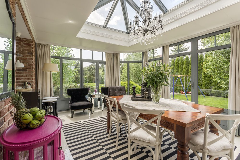 atlas lantern roof in a conservatory