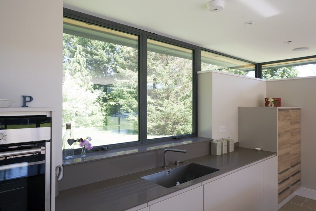 Alitherm aluminium windows in a new kitchen extension