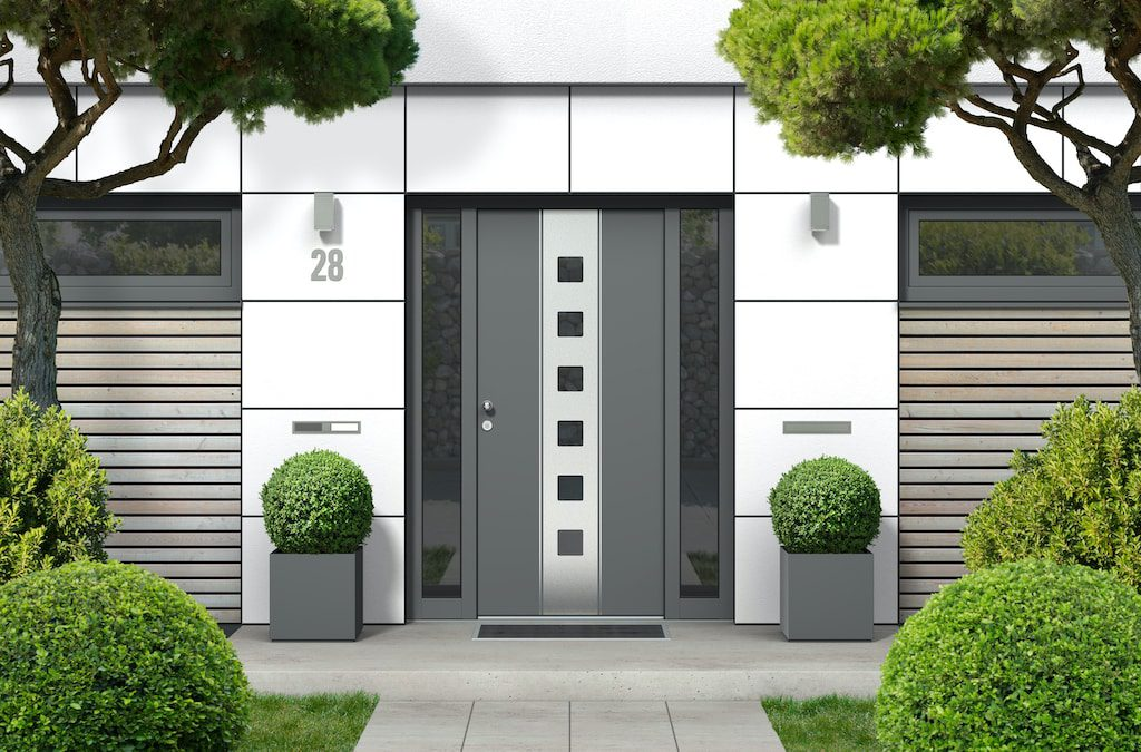 contemporary entrance doors