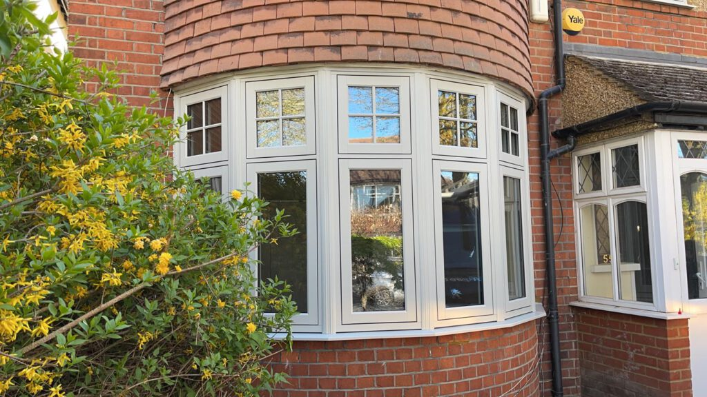 timber-look windows in Surrey in a cream finish