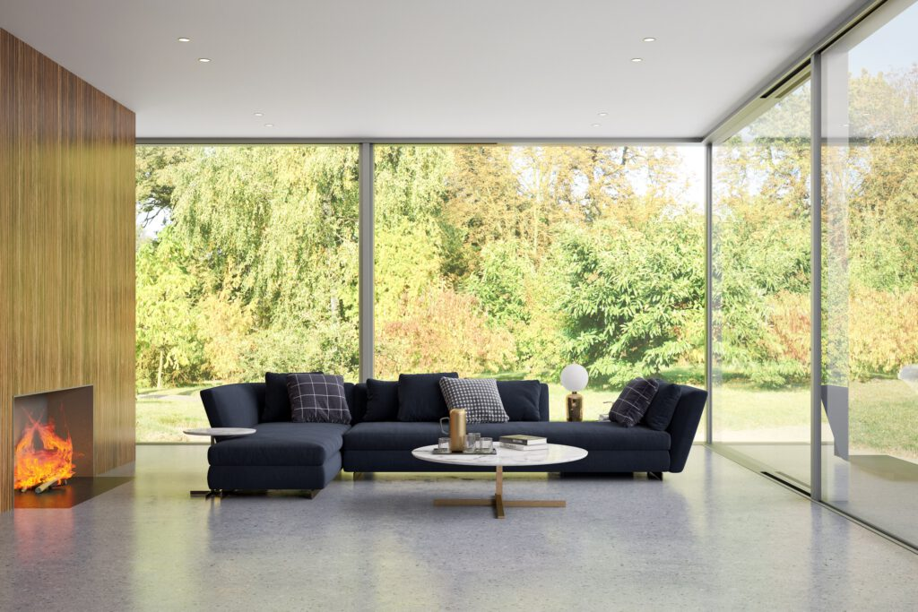 silver sliding doors in a new home compared with sunflex sliding doors